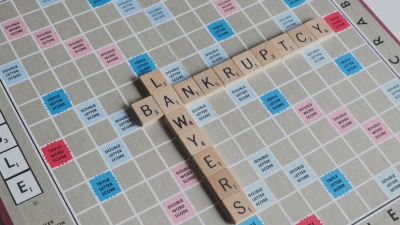 "Board game with word ""Bankrupcy"""